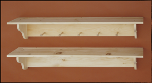Knotty Pine Peg Shelf